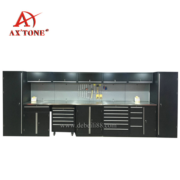 AX'TONE Garage Workshop use AX'TONE Combination Storage roller Cabinet